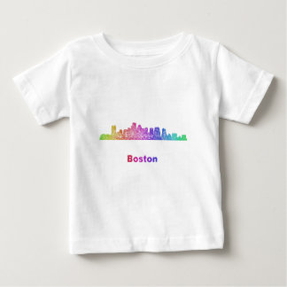 Rainbow Boston skyline Baby T-Shirt