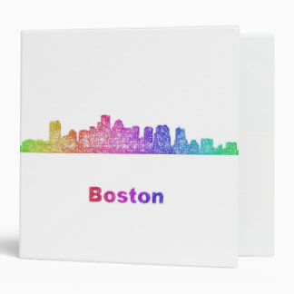 Rainbow Boston skyline Binder