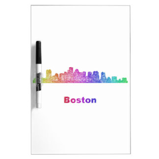 Rainbow Boston skyline Dry-Erase Board