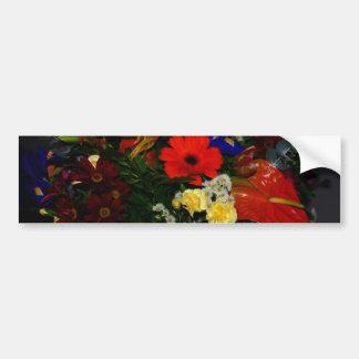 Rainbow bouquet of flowers bumper stickers