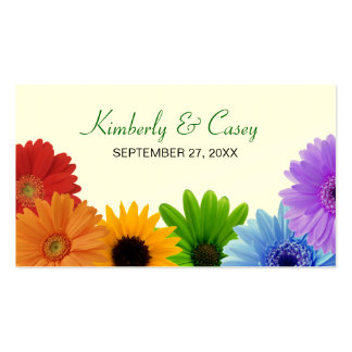 Rainbow Bouquet Placecard Double-Sided Standard Business Cards (Pack Of 100)