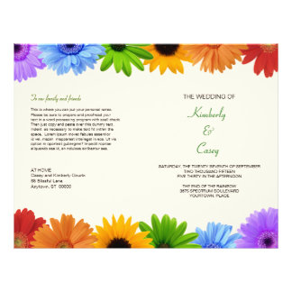 Rainbow Bouquet Wedding Program