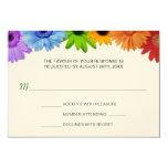 Rainbow Bouquet Wedding Response Personalized Announcement