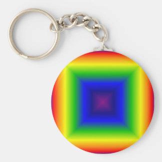 Rainbow Box Basic Round Button Keychain