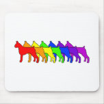 Rainbow Boxer Mouse Pads