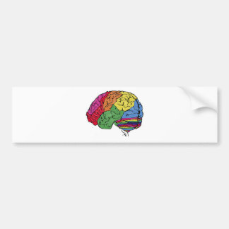 Rainbow Brain Bumper Sticker