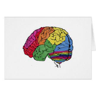 Rainbow Brain Greeting Card