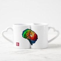 Rainbow Brain Love Coffee Cups