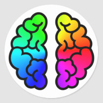 Rainbow Brain Sticker