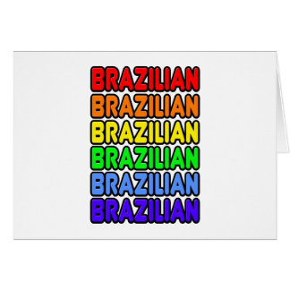 Rainbow Brazilian Card