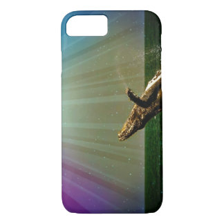 Rainbow Breaching Humpback Whale iPhone 7 case