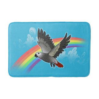 Rainbow bridge african grey parrot bath mat