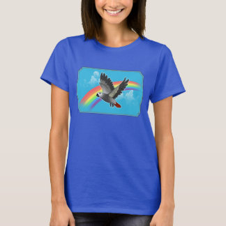Rainbow bridge african grey parrot T-Shirt