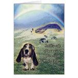 Rainbow Bridge card Greeting Card
