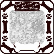 Rainbow Bridge Dog Bone Frame Statuette