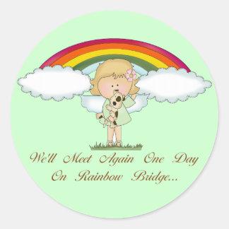 Rainbow Bridge (dog) Classic Round Sticker