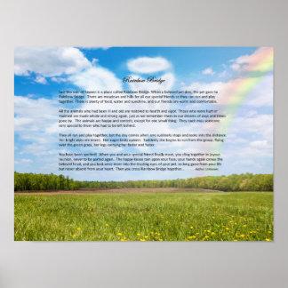 Rainbow Bridge Female Dog Sympathy Poster, Custom Poster