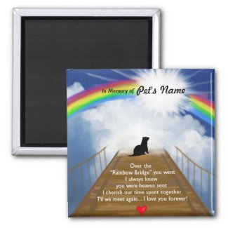 Rainbow Bridge for Ferrets 2 Inch Square Magnet