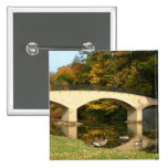 Rainbow Bridge in Fall at Grove City College Button