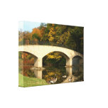 Rainbow Bridge in Fall at Grove City College Canvas Print