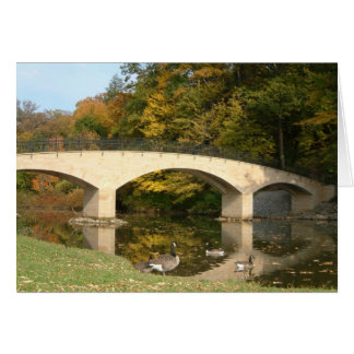 Rainbow Bridge in Fall at Grove City College Card