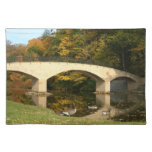 Rainbow Bridge in Fall at Grove City College Cloth Placemat