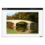 "Rainbow Bridge in Fall at Grove City College Decals For 15"" Laptops"