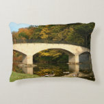 Rainbow Bridge in Fall at Grove City College Decorative Pillow