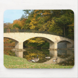 Rainbow Bridge in Fall at Grove City College Mouse Pad