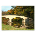 Rainbow Bridge in Fall at Grove City College Photo Print
