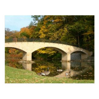 Rainbow Bridge in Fall at Grove City College Postcard
