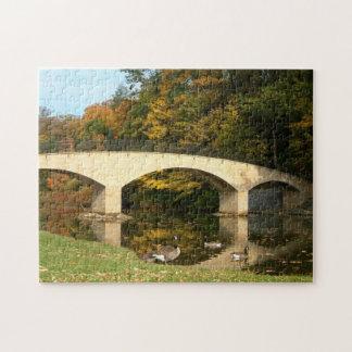 Rainbow Bridge in Fall at Grove City College Puzzle