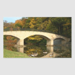 Rainbow Bridge in Fall at Grove City College Rectangular Sticker