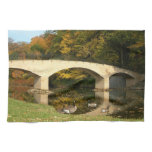 Rainbow Bridge in Fall at Grove City College Towel