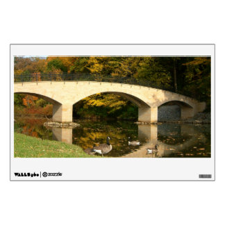 Rainbow Bridge in Fall at Grove City College Wall Decal