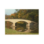 Rainbow Bridge in Fall at Grove City College Wood Poster