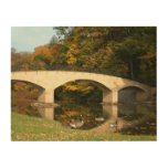 Rainbow Bridge in Fall at Grove City College Wood Print