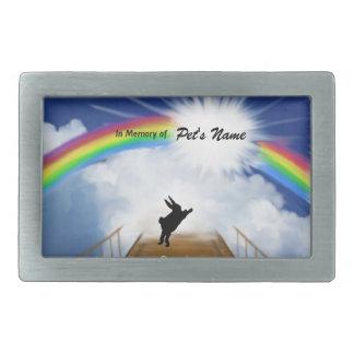 Rainbow Bridge Memorial for Rabbits Rectangular Belt Buckles