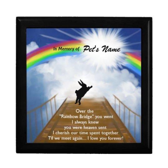 Rainbow Bridge Memorial for Rabbits Gift Box