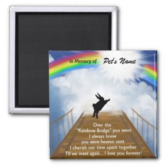 Rainbow Bridge Memorial for Rabbits Magnet