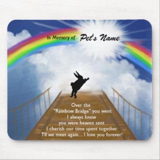 Rainbow Bridge Memorial for Rabbits Mouse Pad