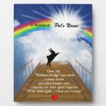 Rainbow Bridge Memorial for Rabbits Photo Plaques