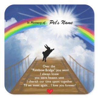 Rainbow Bridge Memorial for Rabbits Stickers