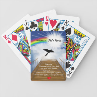 Rainbow Bridge Memorial Poem for Birds Bicycle Playing Cards