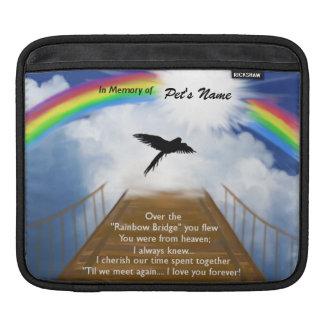 Rainbow Bridge Memorial Poem for Birds iPad Sleeve