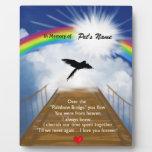 Rainbow Bridge Memorial Poem for Birds Display Plaque