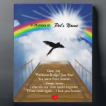 """Rainbow Bridge Memorial Poem for Birds Plaque<br><div class=""""desc"""">Losing a birdis never easy... ... .. it&quot;s like losing your best friend and a member of your family. Many BELIEVE when their beloved bird dies they cross over the Rainbow Bridge. Angel artist and pet lover, Angelina LaFera, illustrated this heartfelt tribute and wrote this memorial poem to honor the...</div>"""
