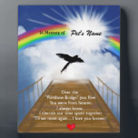 "Rainbow Bridge Memorial Poem for Birds Plaque<br><div class=""desc"">Losing a birdis never easy... ... .. it&quot;s like losing your best friend and a member of your family. Many BELIEVE when their beloved bird dies they cross over the Rainbow Bridge. Angel artist and pet lover, Angelina LaFera, illustrated this heartfelt tribute and wrote this memorial poem to honor the...</div>"