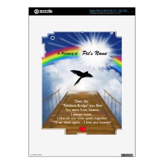 Rainbow Bridge Memorial Poem for Birds iPad 3 Skins