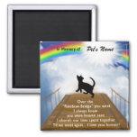 Rainbow Bridge Memorial Poem for Cats 2 Inch Square Magnet